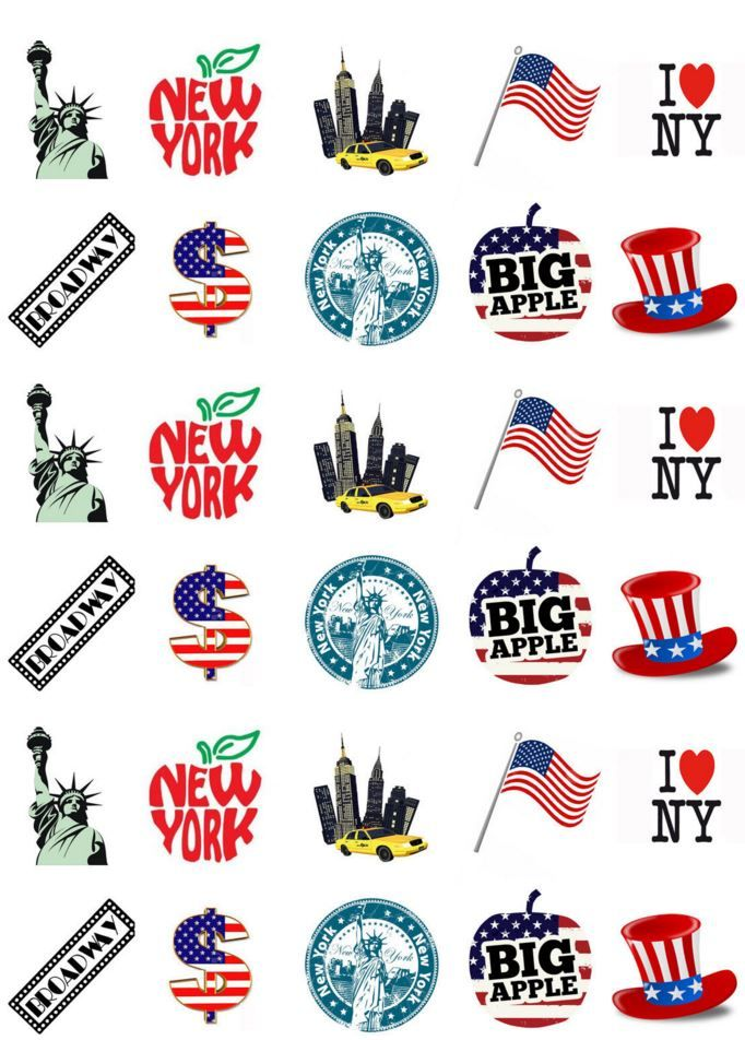 New York Themed Cake Toppers Uk